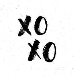 xoxo brush lettering sign grunge calligraphic c vector image