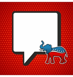 USA elections Republican politic message vector image vector image