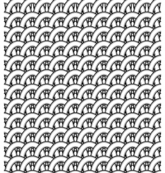 A pattern of interwoven stripes vector image