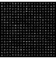 black 400 universal web icons set vector image vector image