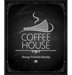 chalkboard coffee vector image