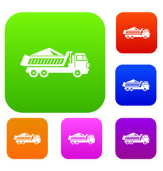 dump track set collection vector image