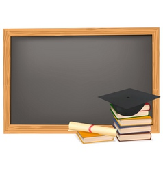 graduation and black desk vector image vector image