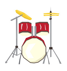 isolated geometric drum set vector image
