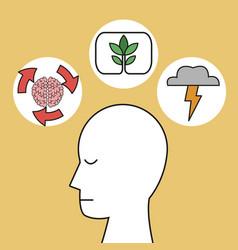 profile human head idea process image vector image