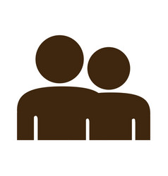 silhouette pictogram people icon flat vector image vector image