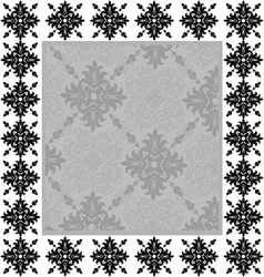 Vintage frame on the wall vector image vector image