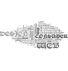 web design give me bullets text word cloud concept vector image vector image
