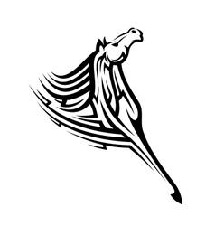 Black tribal horse mascot vector image vector image