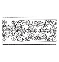 border undulate band is a design found on half- vector image vector image