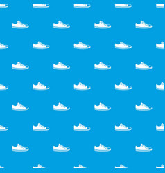 canvas sneaker pattern seamless blue vector image