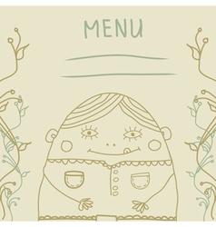 fanny man menu vector image vector image