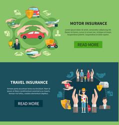 insurance horizontal banners vector image