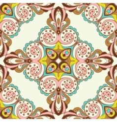 Seamless tiled pattern design vector image
