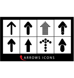 Set of arrows and pointers vector