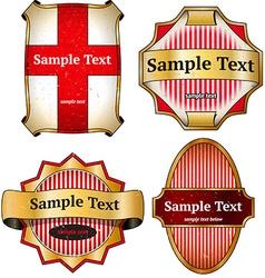 Set of vintage cardboard labels vector image