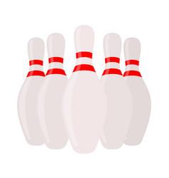 skittles sport equipment concept vector image