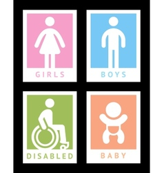 Toilet colored stickers vector image