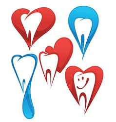 dentist collection vector image