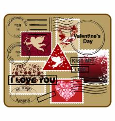 design elements Valentine's Day vector image