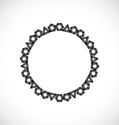 Frame made of diamonds vector image
