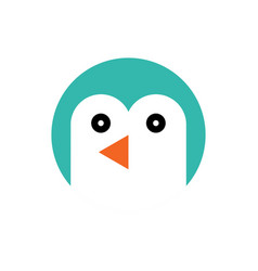 penguin cartoon animal head vector image