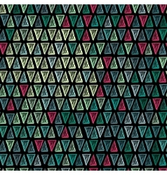 Seamless drawing triangle pattern vector image vector image