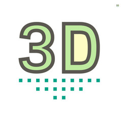 3d technology icon design 48x48 pixel perfect vector image