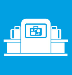 Airport baggage scanner icon white vector