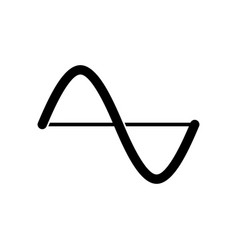 Amplitude graph icon vector