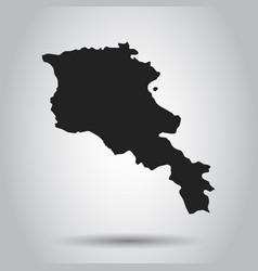 Armenia map black icon on white background vector