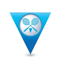 Badminton BLUE triangular map pointer vector