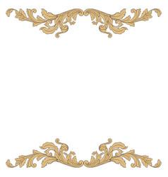 Baroque vintage elements vector