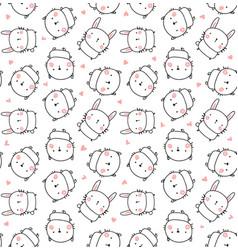 best friends pattern vector image