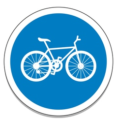 Bicycle sign vector image
