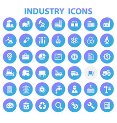 Big industry icon set trendy icons collection vector