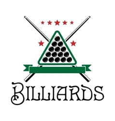 Billiards club emblem vector image