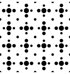 Black and white cross polka dot seamless pattern vector