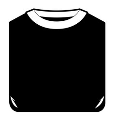 Black sections silhouette of man t-shirt folded vector