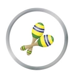 Brazilian maracas icon in cartoon style isolated vector