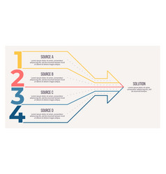 business process arrow chart with 4 steps vector image