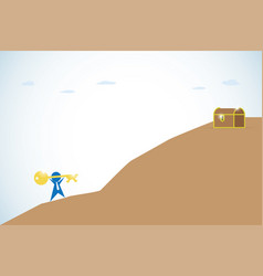 Businessman and key success climbing the mountain vector