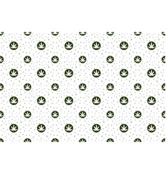 Cannabis seamless pattern vector