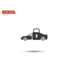 car lock icon eps vector image