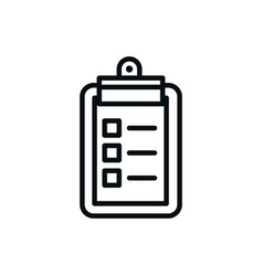 Clipboard check list shopping line style vector