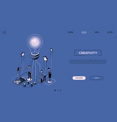 Creativity - line design style isometric web vector