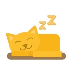 Cute cat sleeping isolated vector