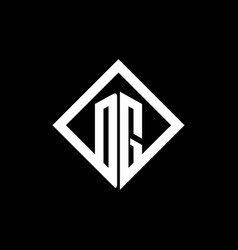 dg logo monogram with square rotate style design vector image