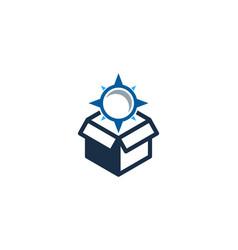 Direction box logo icon design vector
