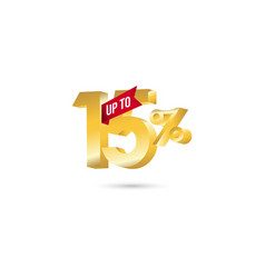 discount up to 15 template design vector image